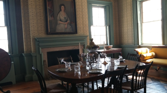 An all-star dinner took place in this dining room on a summer's evening in 1790.