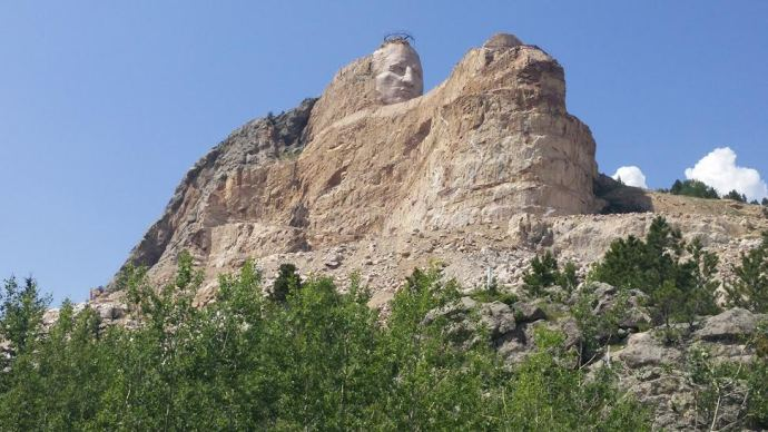 Another view of the Crazy Horse Memorial as it currently stands.