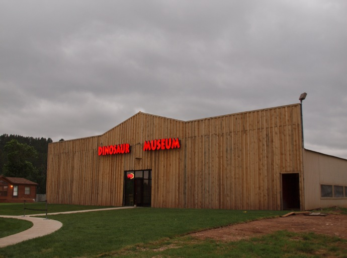 This simple, barn-like structure houses the Dinosaur Museum in Rapid City.