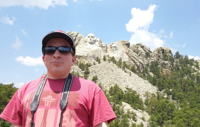 Me at Mount Rushmore in July 2015.