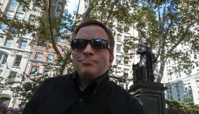 My selfie with Chester Arthur (the 21st President), taken in NYC.