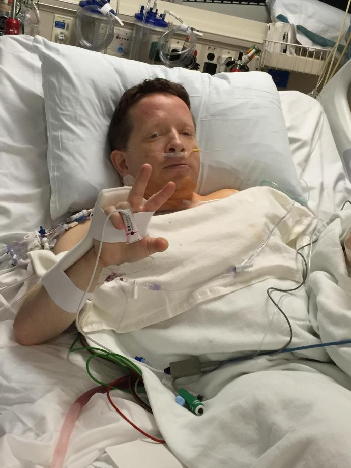 Me in the recovery room, shortly after the completion of my surgery.