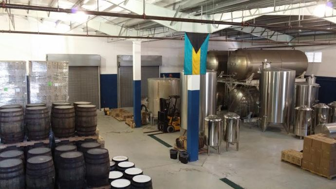 Inside the actual distillery where the product is manufactured.