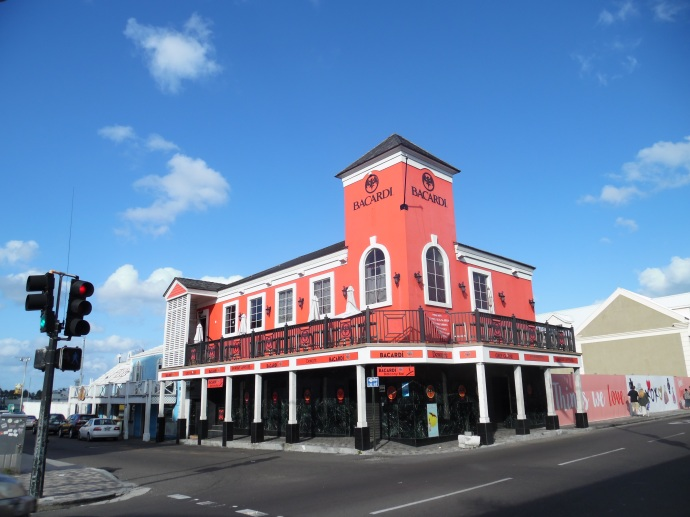 One of my favourite edifices in downtown Nassau is the Bacardi Store, which also contains a bar/lounge in which you can enjoy the eponymous libations that are purveyed on the premises.