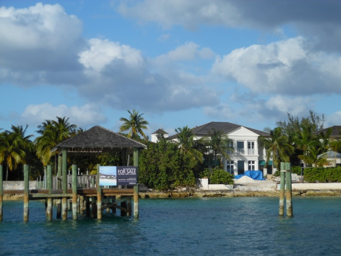 This house on Paradise Island, owned by the actor Nicolas Cage, is currently for sale.