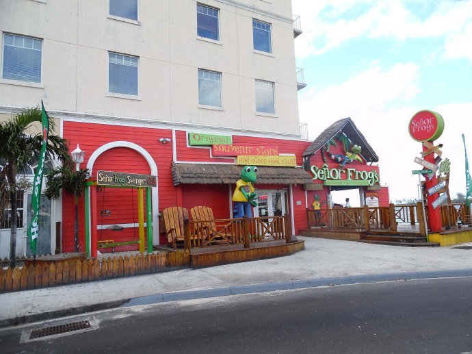 The exterior of Señor Frog´s in Nassau, Bahamas.