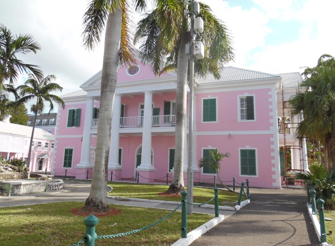 Behind Parliament Square is the Supreme Court of the Commonwealth of the Bahamas.
