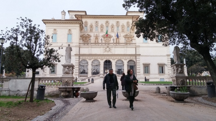 The exterior of the Galleria Borghese.