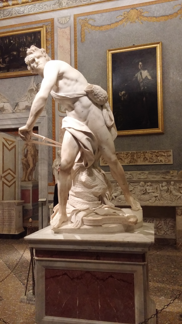 Bernini's take on the Biblical David.