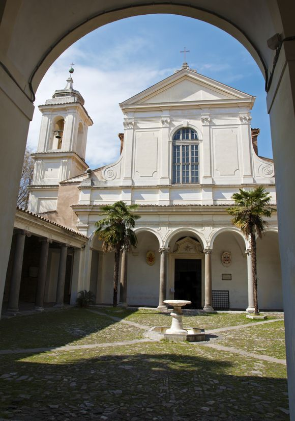 Stock photo of the exterior of the Basilica San Clemente al Laterano.