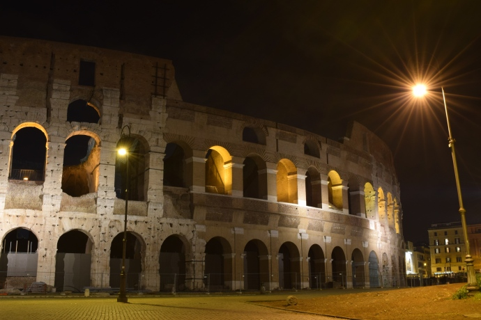 The Colosseum after dark.