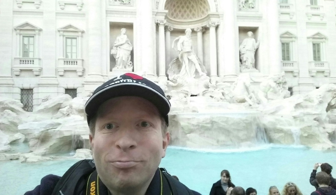 Me in front off the Trevi Fountain.