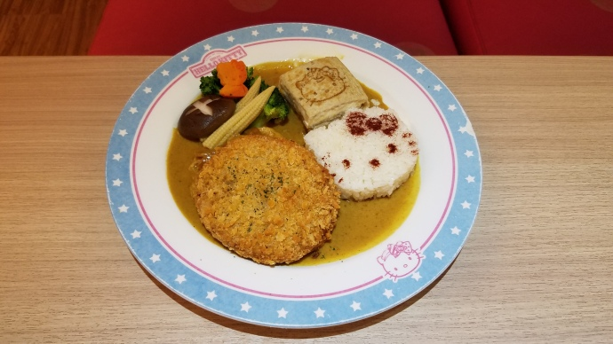 Presentation is everything with the menu items at the Hello Kitty Cafe.