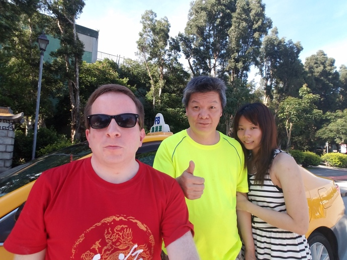 Selfie of me with Mr. Tu and his girlfriend, Shani Song.