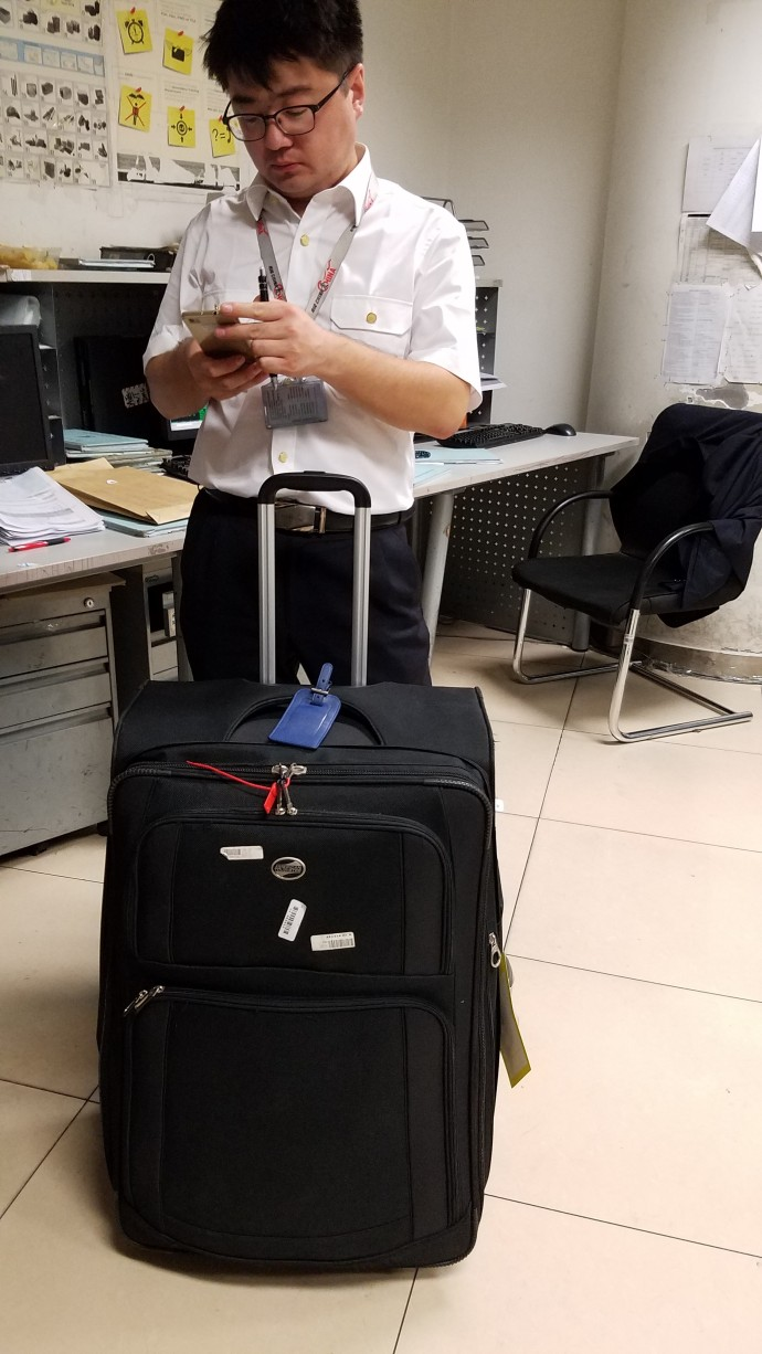 After going to the airport myself to get it, I was finally reunited with my luggage.