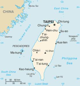 small Taiwan map