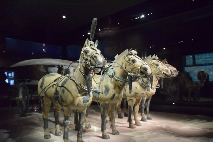Another horse-drawn chariot in the museum.
