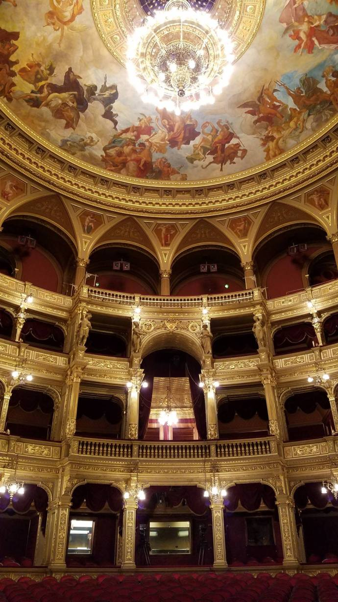 The opera house's main performance hall. A 1970 engineering study determined that this room boasts the third-best acoustics of any opera house in Europe.