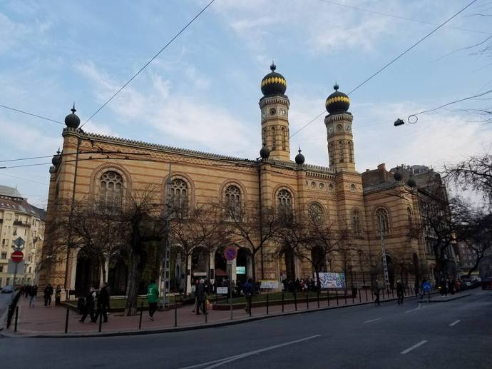 The Dohány Street Synagogue.