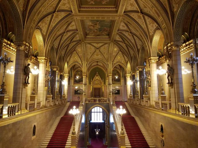 The Hungarian Parliament's Central Staircase.