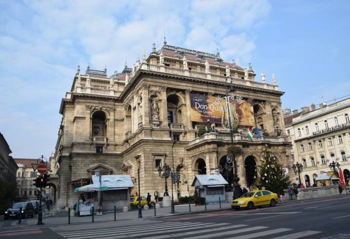 The exterior of the Hungarian State Opera House