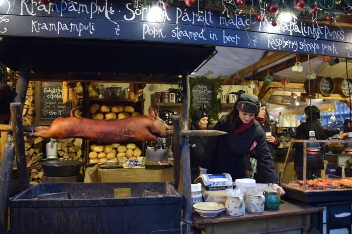 A scene in Budapest's Christmas market.