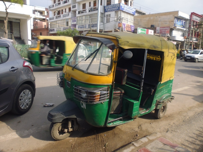 An auto rickshaw in New Delhi, India, seen during my visit to India in 2014.